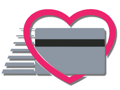 Heart and Card - Pink and new grey